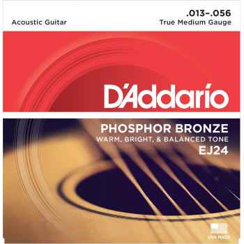 D´addario EJ24 Phosphor Bronze True Medium cuerdas Guitarra Acústica